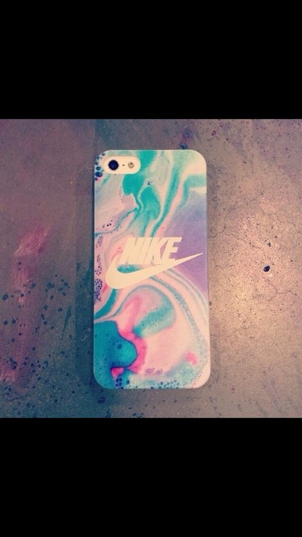 Jewels: iphone case pretty tie dye water colour nike