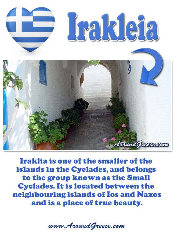 The picturesque island of Irakleia in the Cyclades