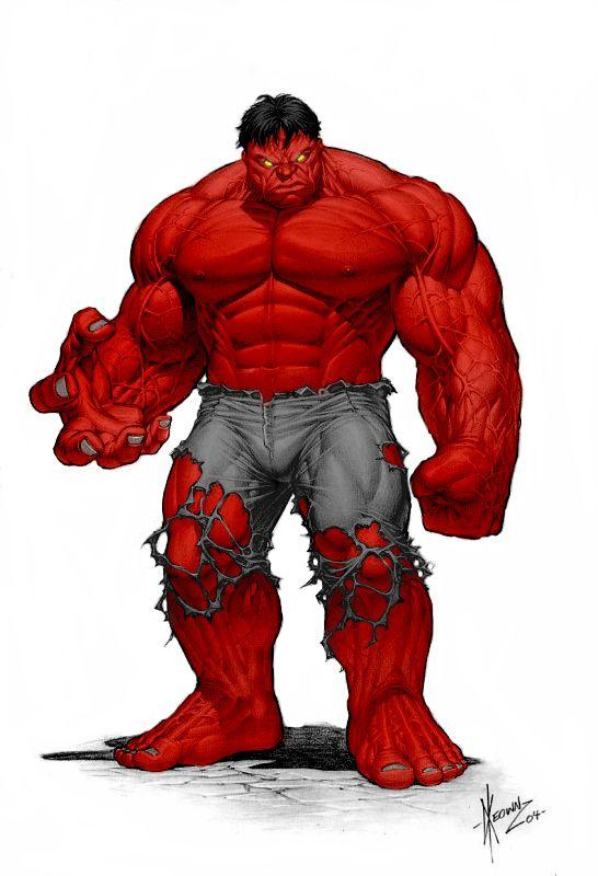 Red Keown Hulk Colour by SubZeroTolerance.deviantart.com on @deviantART