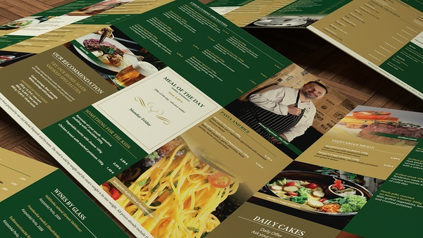 Kolkovna menu by Martin Suster, via Behance