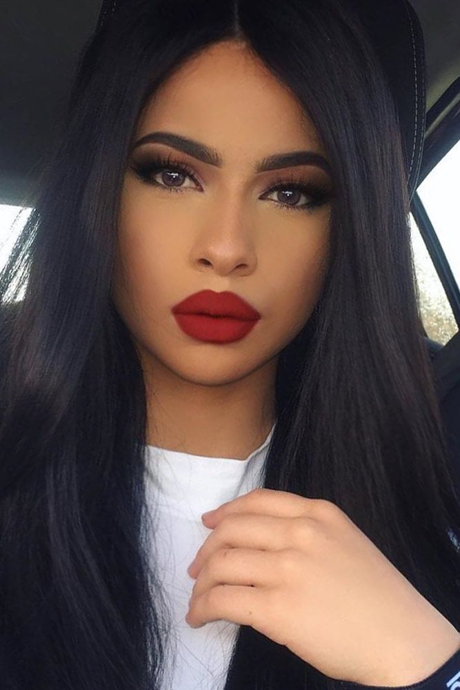 Red lipstick instantly makes you look feminine and sexually attractive. Click to choose the most flattering shade of red.