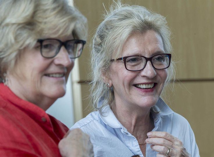 President Spencer and Elizabeth Strout '77 talk with audience members after their interview.(Phyllis Graber Jensen/Bates College)