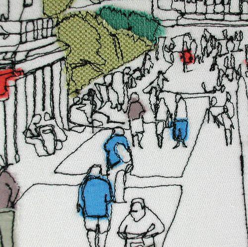 Gillian Bates  -  'Eastbourne Promenade' (Detail)