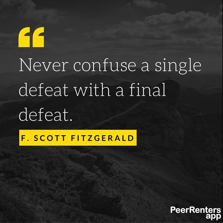 Single defeats in business are not a problem.