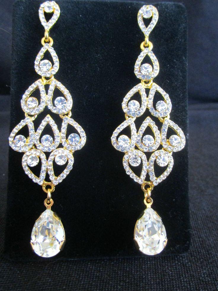126 best crystal bridal earrings images on Pinterest | Bridal ...