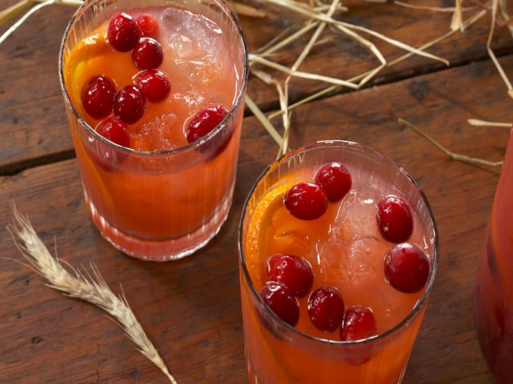 Bourbon-Cranberry Cocktail recipe from Nancy Fuller via Food Network
