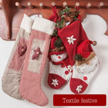 Festive Textiles, Christmas Socks, Aprons with Love and Fantasy!