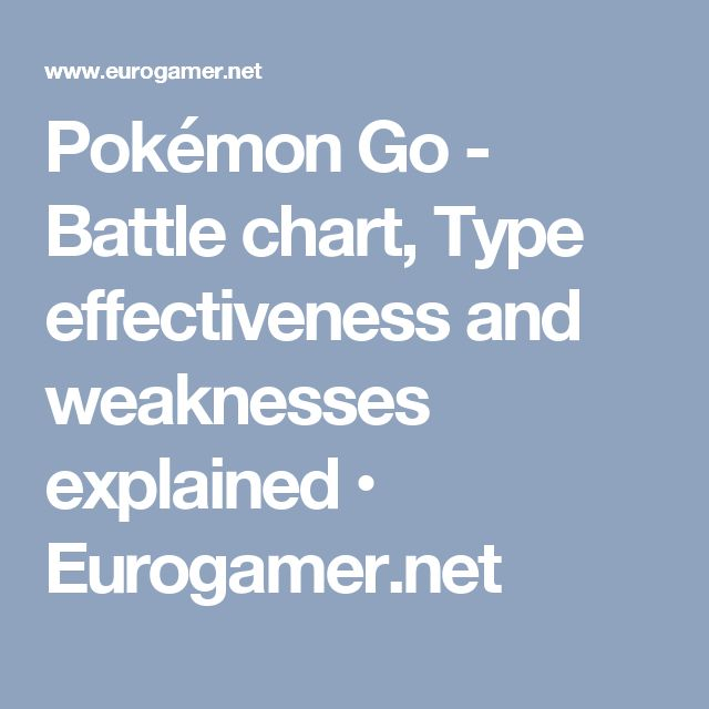 Pokémon Go - Battle chart, Type effectiveness and weaknesses explained • Eurogamer.net