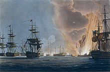 'It is a charming sight, is it not, to see the great guns fire? And tonight you will see them in the dark, which is even finer. Lord, you should have seen the Nile! And Heard it! How happy you would have been!' (The Battle of the Nile, Thomas Luny, 1830, National Maritime Museum)
