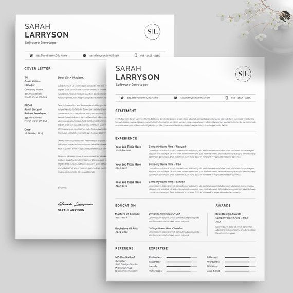 Professional Resume Template Resume Template Cv Template Etsy Resume Template Professional Resume Templates Resume Template