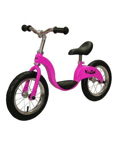 Look at this #zulilyfind! Pink Balance Bicycle by KaZAM #zulilyfinds