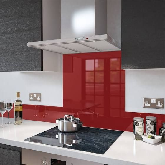 red adhesive kitchen tiles