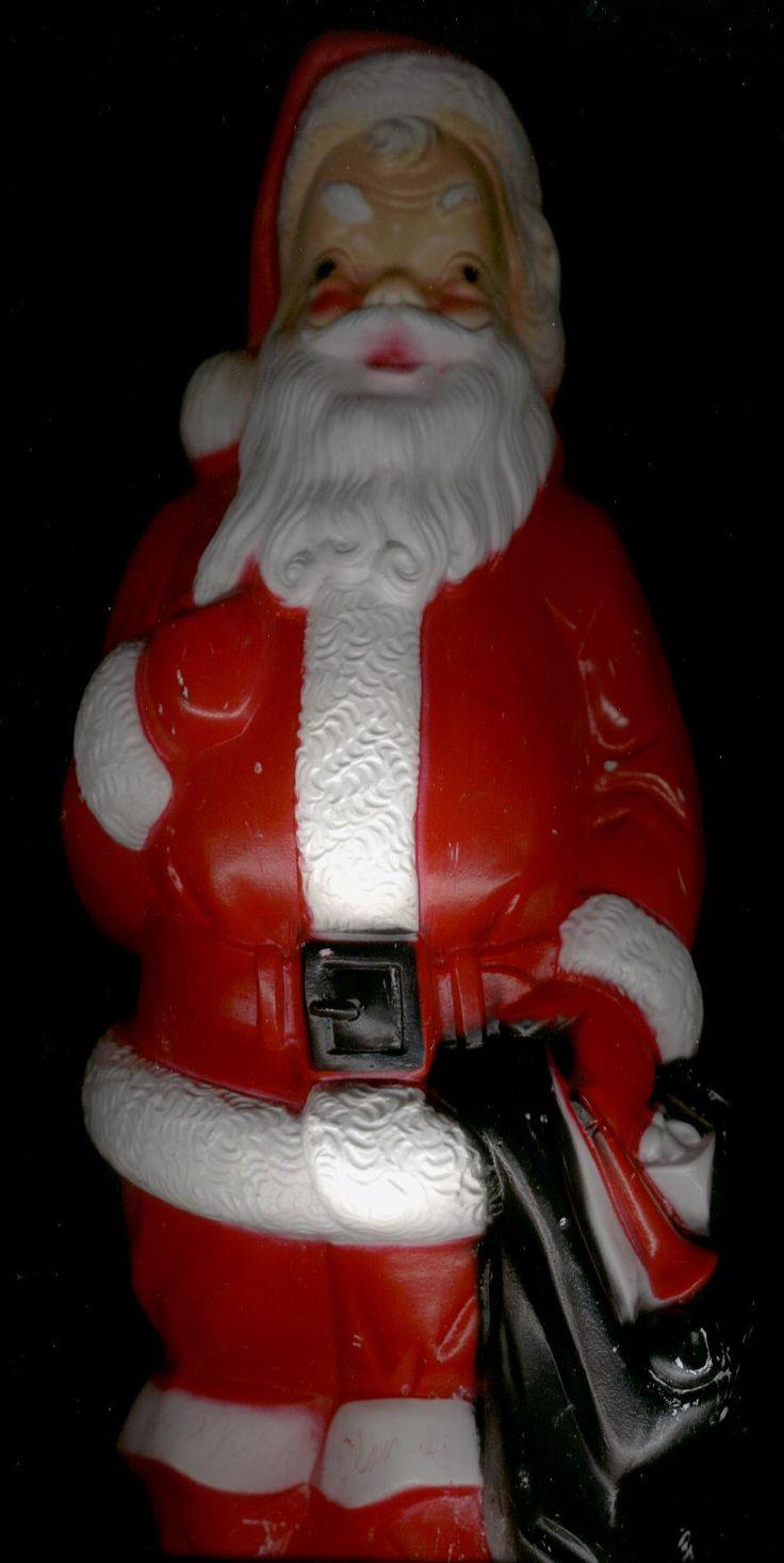 Christmas ornament catalogs - Vintage Christmas Blow Mold Empire Plastic Santa W Black Bag I Have This