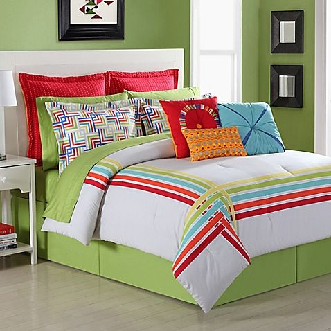 Fiesta® Salaya Reversible Comforter Set - BedBathandBeyond.com // I love the wa...
