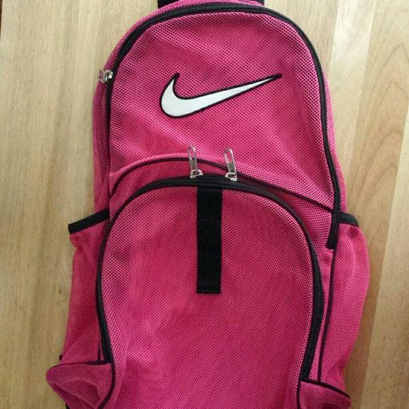 Nike Mesh Backpack Transparent Pink, brand new. Nike Bags Backpacks