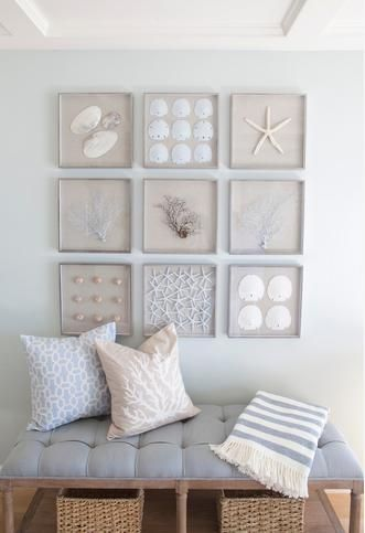 Coastal inspired style #Wall #Art #Ideas