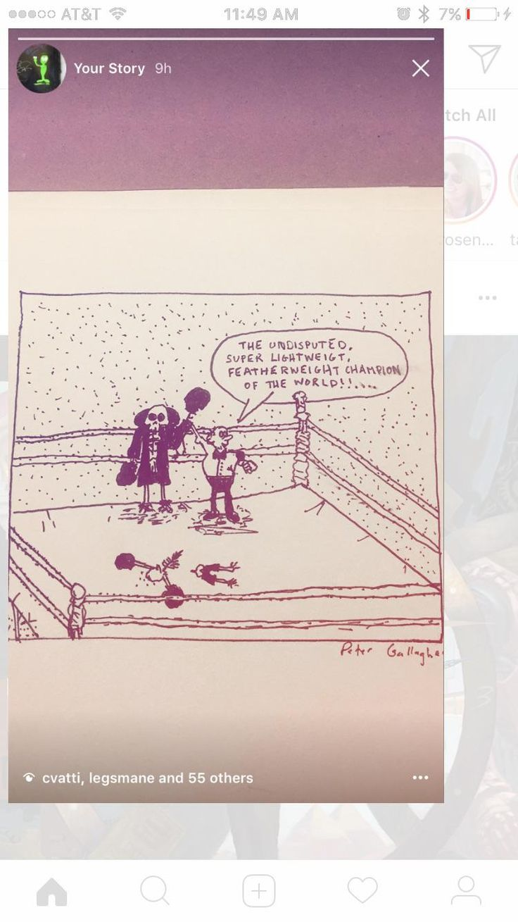 For the upcoming boxing match. My first comic [OC]