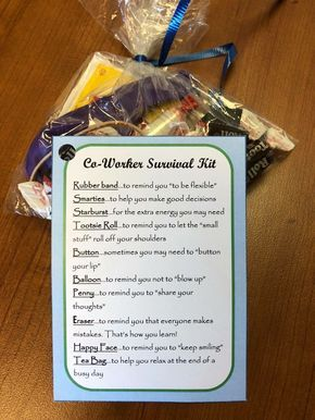 Co Worker Survival Kits Were Party Favors At A