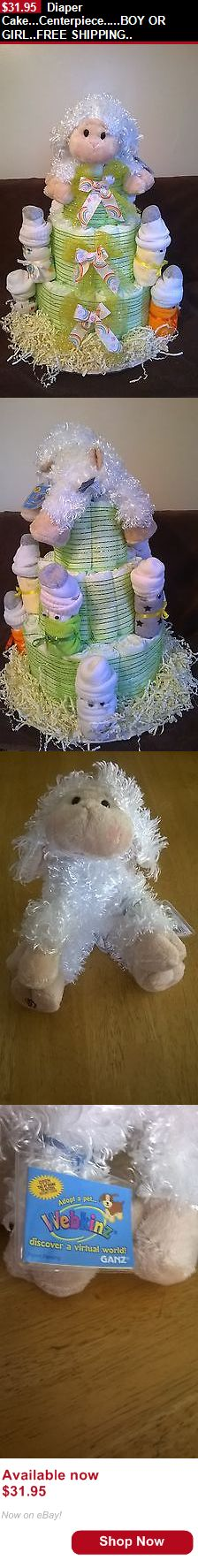 Baby Diaper Cakes: Diaper Cake...Centerpiece.....Boy Or Girl..Free Shipping.. BUY IT NOW ONLY: $31.95