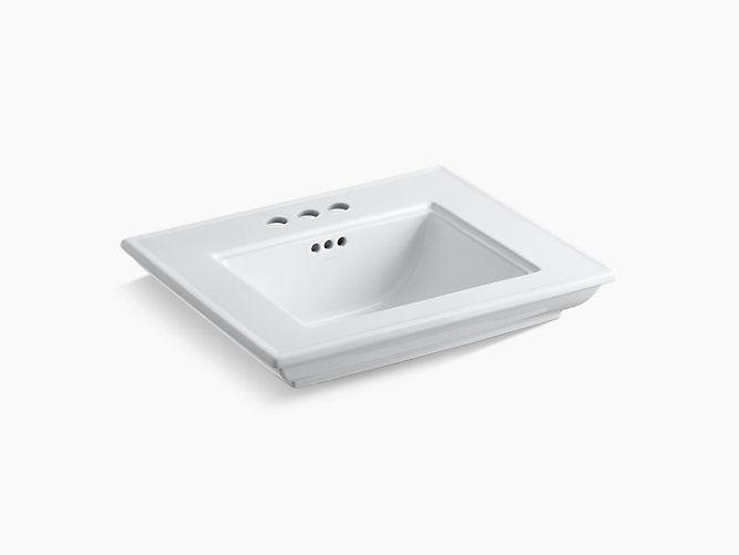 Kohler Memoirs Stately 24 Pedestal Console Table Bathroom Sink