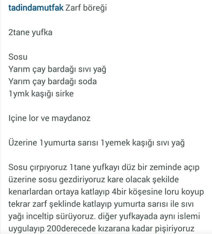 ZARF BÖREĞİ