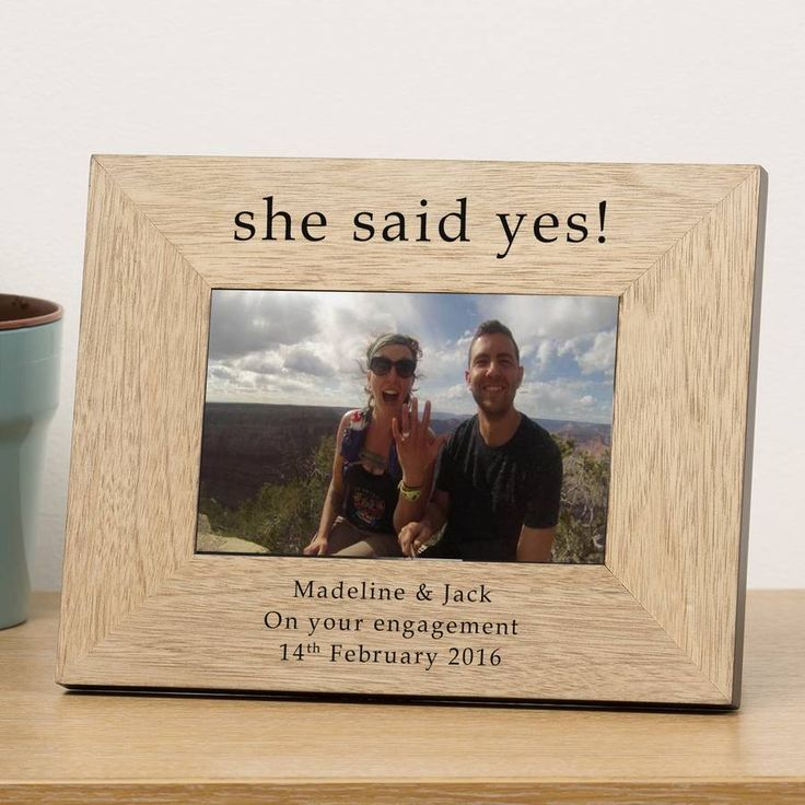 personalised engagement frame engagement and wedding - Engagement Picture Frames