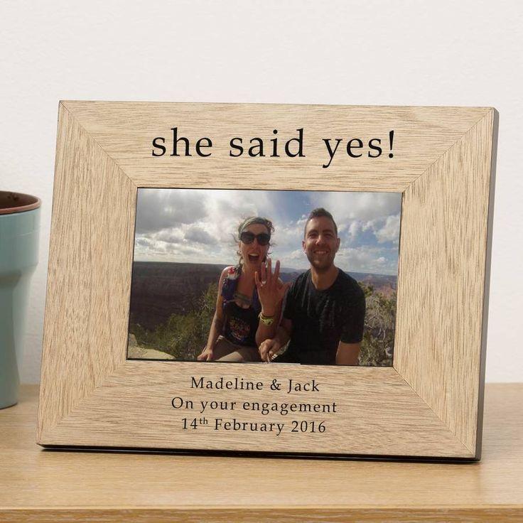 personalised engagement frame engagement and wedding - Engagement Photo Frames