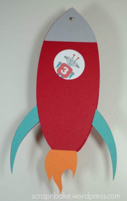 Einladung: Rakete · Kindergeburtstag RaketeEinladung  KindergeburtstagEinladung BastelnEinladung ...