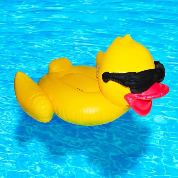 """""""This """"rubber duckie"""" inflatable replicais a dream come true for those of us who fantasizedof one day mimicking our childhood bathtub memories."""""""