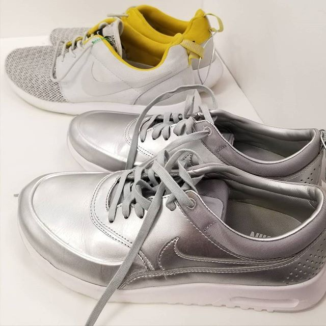 Find your perfect pair of #Nike shoes at Plato's Closet! We just filled out store with a bunch of them. Come in now before they are all gone!  Front: Size 7.5 $20 Back: Size 9 $20 *Comment or call to hold* #platoscloset #platoscloset_monterey #gentlyused #monterey #pacificgrove #carmel #seaside #marina #salinas #montereylocals #pacificgrovelocals- posted by Platos Closet https://www.instagram.com/platoscloset_monterey. See more of Pacific Grove, CA at http://pacificgrovelocals.com