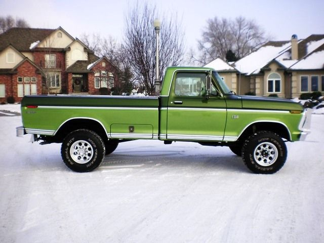 2013 4x4 highboy | High Boy – 1975 Ford F-250 | LockingHub.com   this is like what we had when we got married except for 4 x 4