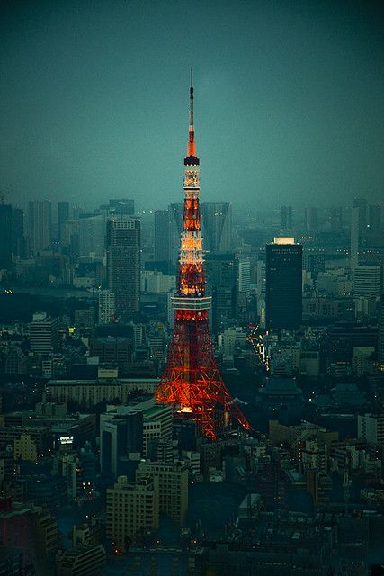 Tokyo Tower sucia by Sergio Rozas on Flickr.