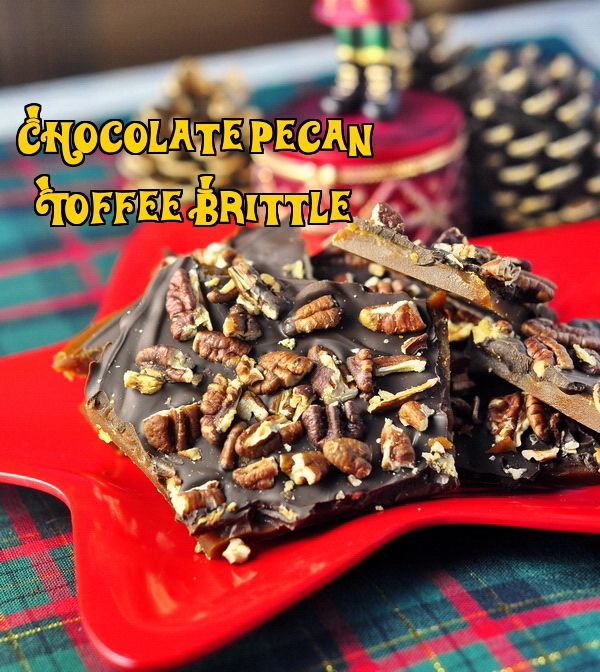 Looking for a great homemade gift idea? My answer is Pecan Chocolate Toffee Brittle - an easy to make candy confection that is perfect for holiday entertaining and gift giving. Warning!...this stuff is very ADDICTIVE!