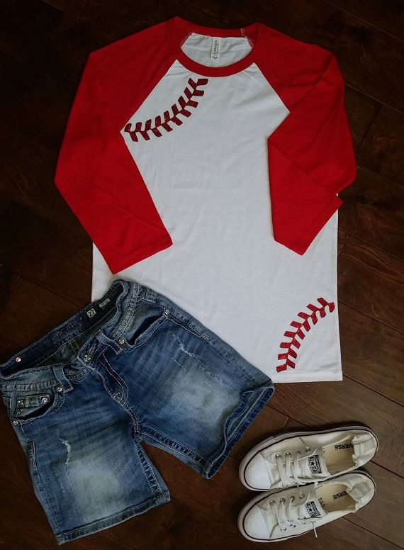 Baseball Mom Shirt Monogram Baseball Shirt Raglan by FleurdeBling