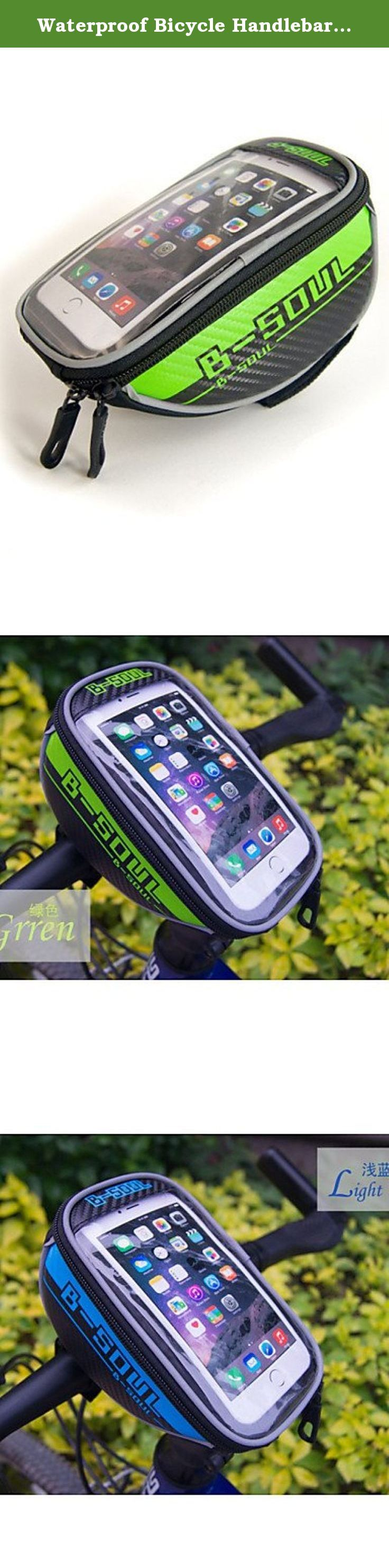 """Waterproof Bicycle Handlebar Bag for 5.5"""" Cellphones , red. Type:Bike Handlebar Bag, Bike Frame Bag, Cell Phone Bag, Activity:Cycling/Bike, Gender:Unisex, Occasion:Outdoor, Material:Nylon, Color:Blue, Gray, Red, Green, Function:Touch Screen, Wearable, Reflective Strip, Rain-Proof, Waterproof, Dimension (L¡ÁW¡ÁH) (cm):18*10*7cm, Net Weight (kg):0.112, Capacity (L): Capacity Range (L): Compatible Cell Phone Brands:Other Similar Size Phones, Iphone 6 Plus/6S Plus, Iphone 6/IPhone 6S, LG G3..."""