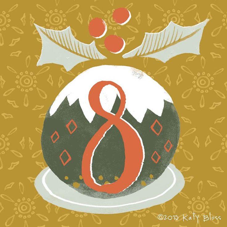 Katy Bloss Illustrated Advent Calendar Day 8