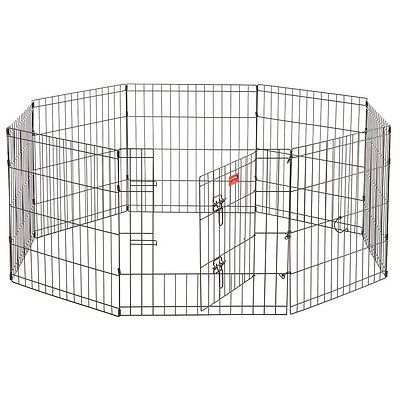 Modular Wire Play Pen In Out Door Pet Exercise Kennel Heavy Duty Dog Enclosure