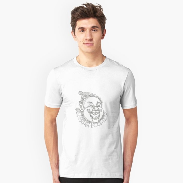 """Vintage Circus Clown Head Doodle"" Unisex T-Shirt by patrimonio   Redbubble  #clown #circusclown #tshirt"