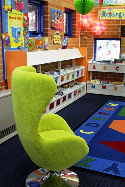 Great reading area with teachers chair