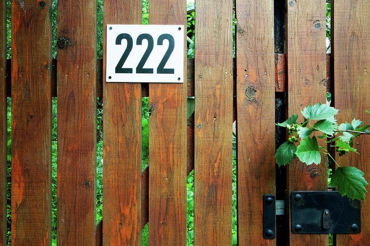 House Number Photograph - Number 222 by Margarita Buslaeva #MargaritaBuslaevaFineArtPhoto #door #simplelock #lock #privateproperty #wicket #wooden #artforsale #ArtForHome #FineArtPhotography #fineartprints