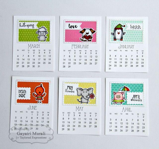 Best Calendar Critters Images On   Calendar Stamping