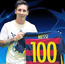Lionel Messi reaches 100th European goal
