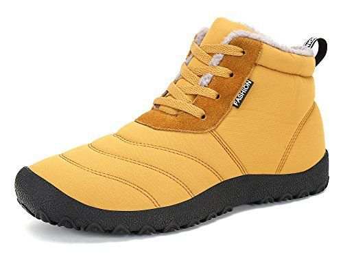 KOUDYEN Homme Femme Chaussures Bottes Hiver De Neige Botte Fourrées Lacets Plates Boots Bottines: KOUDYEN Homme Femme Chaussures Bottes…