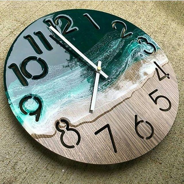 New The 10 Best Craft Ideas Today With Pictures Resin Clock Kerajinan Craft Crafting Resin Resinart Wood Clocks Diy Clock Wall Diy Resin Crafts
