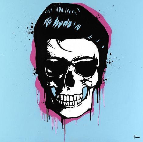 Elvis Skull by George IoannouDead Famous Skull Paintings by George Ioannou: http://skullappreciationsociety.com/dead-famous-skull-paintings-by-george-ioannou/ via @Skull_Society