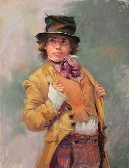 """The Artful Dodger  by Connie Kuhnle  Pastel20"""" x 16"""""""
