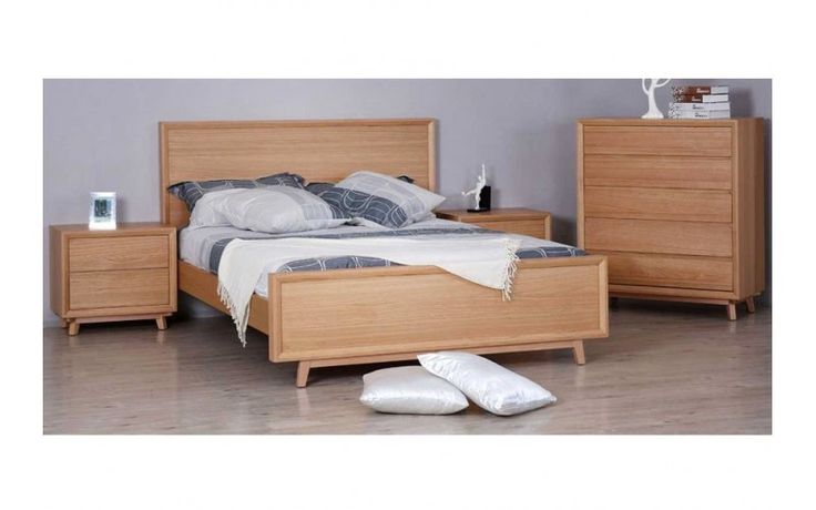 Springwood  White Oak Bed Frame with Suite Options