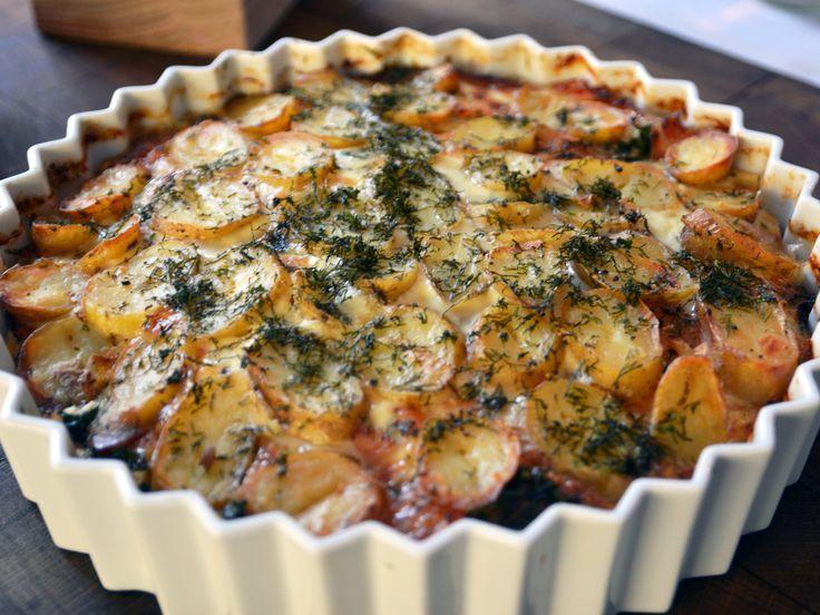 Laxpudding med grönkål och skirat smör | Recept från Köket.se