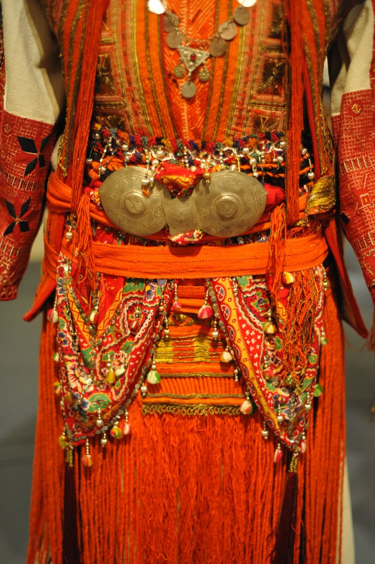 A detail of some of the embroideries and jewelry of a Macedonian bridal dress. Ca. 1900.