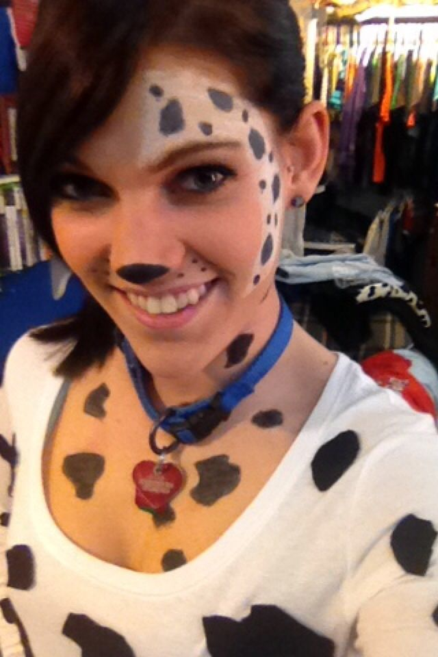 Dalmation Face Paint